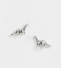 Серебряные серьги-гвоздики в виде динозавров Kingsley Ryan - Серебряный