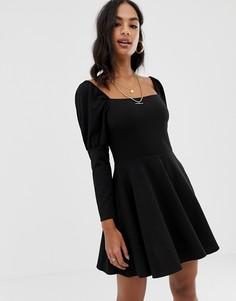 Приталенное платье мини ASOS DESIGN - Черный