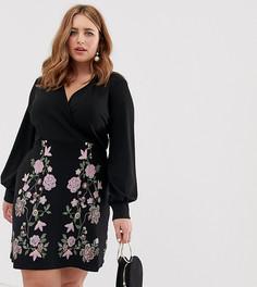 Платье-футляр мини с принтом ASOS DESIGN Curve - Мульти