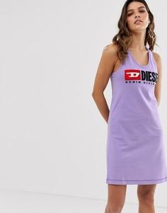 Платье-майка борцовка с логотипом Diesel - Фиолетовый