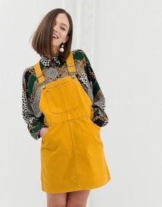 Желтое платье-комбинезон Monki - Желтый
