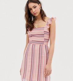 Платье мини в полоску Glamorous Tall - Мульти