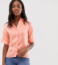 Атласная блузка Glamorous Tall - Розовый