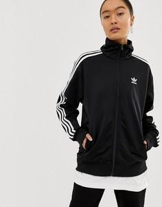 Черная куртка с тремя полосками adidas Originals Firebird - Черный