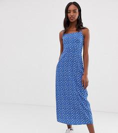 Платье с цветочным принтом в стиле 90-х COLLUSION Tall - Синий