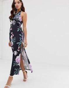 Платье макси с цветочным принтом Lipsy - Мульти
