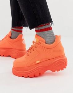 Кроссовки неоново-оранжевого цвета на толстой подошве Buffalo Classic - Оранжевый
