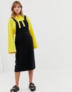 Черное платье-комбинезон Monki - Черный