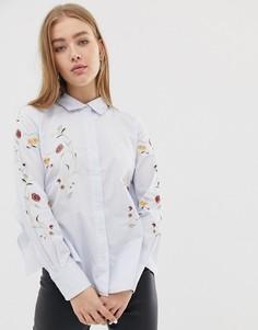 Рубашка с цветочной вышивкой Blank NYC In Bloom - Белый