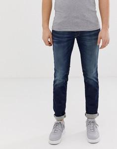 Синие джинсы слим Jack & Jones Intelligence GLENN - Темно-синий