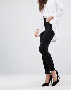 Облегающие джинсы с завышенной талией J Brand Maria - Черный