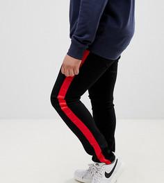 Черные джинсы скинни с полосками Sixth June эксклюзивно для ASOS - Черный