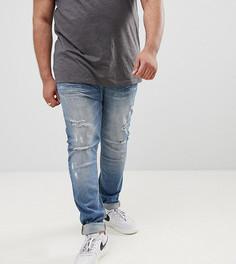 Выбеленные супероблегающие джинсы с потертостями Sixth June эксклюзивно для ASOS - Синий
