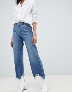 Широкие джинсы с завышенной талией DL1961 Hepburn - Синий