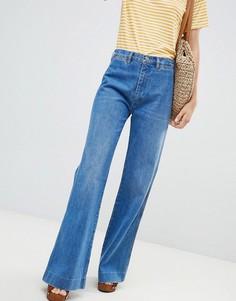 Расклешенные джинсы с завышенной талией MiH Jeans - Темно-синий