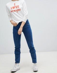 Прямые джинсы с классической талией Wrangler - Синий