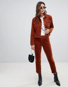 Вельветовые брюки скинни Blank NYC - Медный