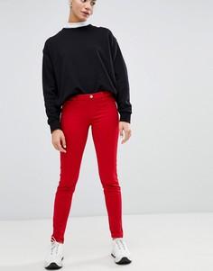 Красные джинсы скинни с классической талией Love Moschino - Красный