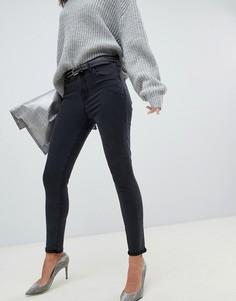 Черные выбеленные укороченные джинсы скинни с завышенной талией и необработанным краем J Brand Alana - Черный