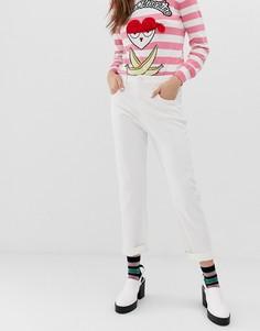Белые джинсы скинни Love Moschino - Белый