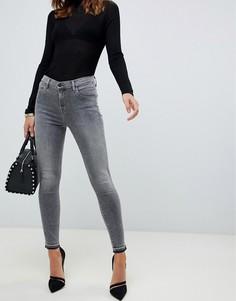 Укороченные джинсы скинни с завышенной талией J Brand Alana - Серый