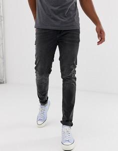 Выбеленные черные джинсы скинни ASOS DESIGN - Черный
