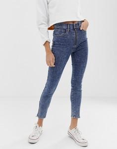 Укороченные джинсы скинни с необработанными краями Levis - Синий Levis®