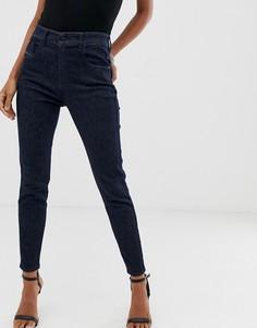 Зауженные джинсы с завышенной талией Diesel Slandy - Синий