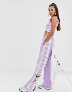 Фиолетовые брюки с кнопками adidas Originals adicolor Adibreak - Фиолетовый