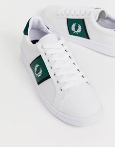 Белые парусиновые кроссовки Fred Perry B721 - Белый