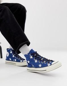 Кеды со звездным принтом Converse Chuck 70 - Темно-синий