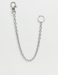 Серебристая цепочка для ключей с кольцами Weekday - Черный