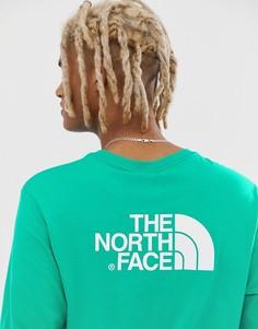Зеленый лонгслив The North Face Easy - Зеленый