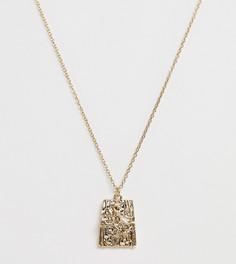 Ожерелье с прямоугольной подвеской Liars & Lovers - Золотой
