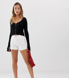 Белые шорты в винтажном стиле с завышенной талией Vero Moda Petite - Белый