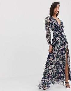 Платье макси с длинными рукавами The Jetset Diaries fleur - Мульти