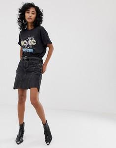 Черная джинсовая юбка с отделкой по краю Blank NYC - Черный