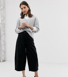 Повседневные брюки с широкими штанинами ASOS DESIGN - Черный
