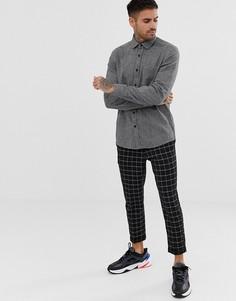 Серая меланжевая рубашка классического кроя ASOS DESIGN - Серый