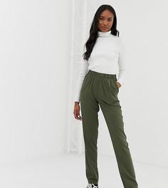 Фактурные брюки прямого кроя Noisy May Tall - Зеленый