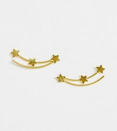Позолоченный серебряный кафф в виде звезды Kingsley Ryan - Золотой