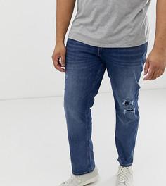 Синие узкие джинсы большого размера Jack & Jones - Синий