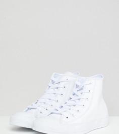 Белые высокие кожаные кеды Converse Chuck Taylor - Белый