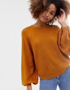 Джемпер с объемными рукавами Brave Soul - Оранжевый