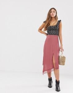 Платье-комбинация Free People - Розовый