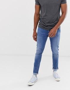Голубые зауженные джинсы Jack & Jones Intelligence - Синий