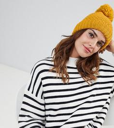 Желтая шапка-бини с помпоном Accessorize - Желтый