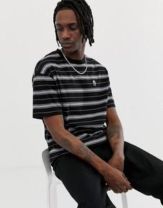 Черная футболка в полоску Globe Stroke - Черный