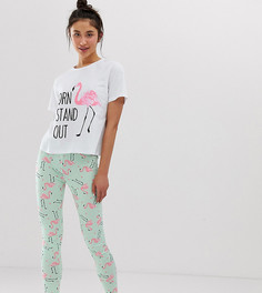 Пижама с леггинсами и надписью born to stand out ASOS DESIGN Tall - Мульти