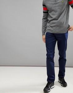 Темно-синие узкие брюки-чиносы Lyle & Scott Golf Fidra - Темно-синий